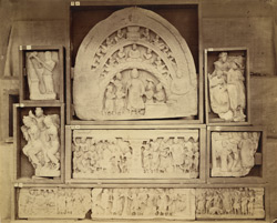 Buddhist sculpture pieces from Jamal-Garhi. 10031001